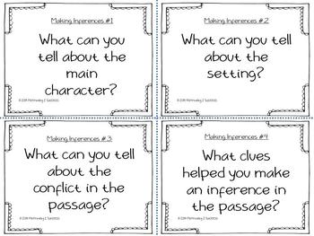 Reading Strategy Task Cards