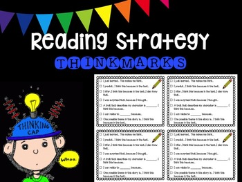 Reading Strategy Prompt Cards (Thinkmarks)