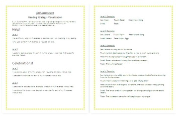 Reading Strategy (Visualization) with Harry Potter:Self-Assessment