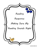 Reading Strategy Worksheet: Does that sound right?