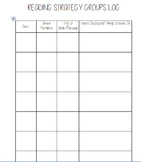 Reading Strategy or Guided Reading Groups Record Sheets/Log
