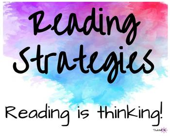 Reading Strategy posters *Editable*