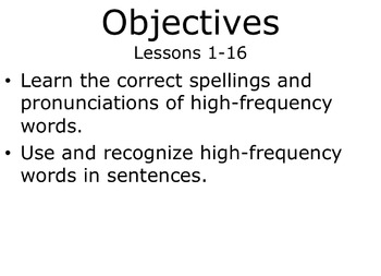 128 High Frequency Sight Words (16 mini-lessons -2nd grade)