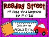 Reading Street 192 Sight Word Sentence Strips (1st Grade)