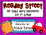 Reading Street 192 Sight Word Sentence Strips (1st Grade)