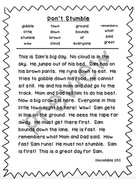 Reading Street 1st Grade Decodable Stories Bundle (Units 1- 5)