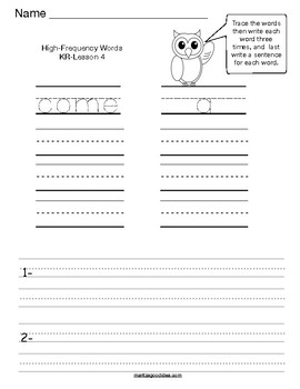 Reading Street 1st. Grade High-Frequency Words Review