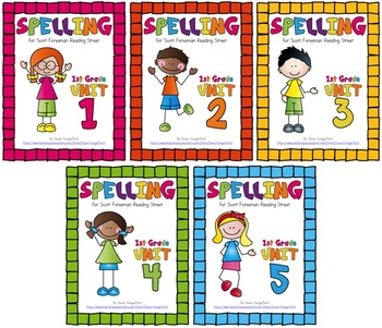 Reading Street, 1st Grade Spelling Materials Bundle