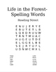 Reading Street 1st Grade Spelling Words- Word Search- Life