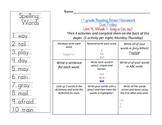 Reading Street 1st grade Spelling Homework UNIT 4