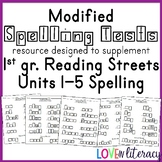 Modified Spelling:  Reading Street 1st grade Unit 1-5