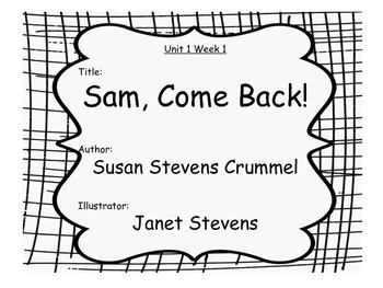 Grade 1 (Unit 1) Objectives and common core standards for Reading Street (2008)
