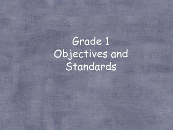 Grade 1 (Units 1-5) Objectives & standards for Reading Street (2008)