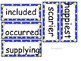 Grade 3 Spelling (Unit 1) word cards for Reading Street (2008)