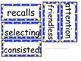 Grade 4 Units 1-6 Vocabulary word cards for Reading Street (2008)