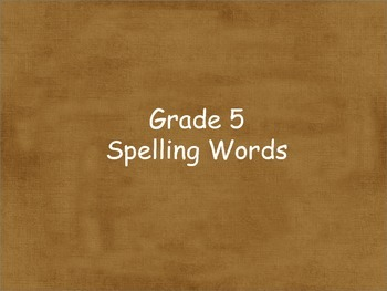 Grade 5 Units 1-6 Spelling word cards for Reading Street (2008)