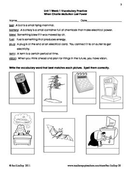Reading Street  Vocabulary Unit 1 Grade 3
