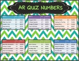 Reading Street 2013 Common Core 3rd grade AR Quiz numbers chevron, blue/ lime