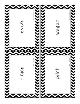Reading Street 2013 Grade 3 Unit 2 Spelling Lists and Cards CHEVRON