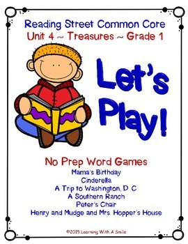 Reading Street 2013 - LET'S PLAY Partner Game -Unit 4 - Pr