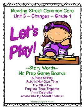 Reading Street 2013 - Let's Play Partner Game -Unit 3 - Pr