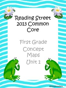 Reading Street 2013 Unit 1 Concept Maps
