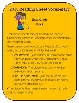 3rd Grade Reading Street 2013 Unit 1 Vocabulary and Amazin