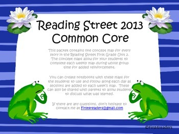 Reading Street 2013 Unit 2 Concept Maps