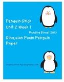 Reading Street 2013 Unit 2 Week 1 Penguin Chick Cinquain Poem paper