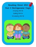 3rd Grade Reading Street 2013 Unit 3 Refrigerator Copy