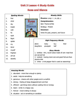 Reading Street 2013 Unit 3 Study Guides