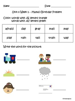 Reading Street 2013 Unit 4 Spelling Acitivites