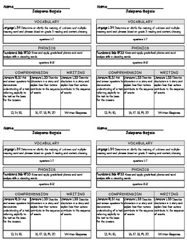 3rd Grade Reading Street 2013 Unit 5 Grading Slips