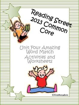 Reading Street 2013 Unit Four Amazing Words Activities