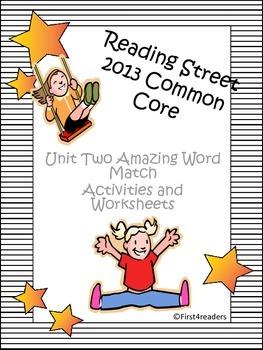 Reading Street 2013 Unit 2 Amazing Words Activities