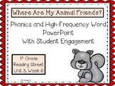 1st Grade Interactive PowerPoint, Where Are My Animal Friends?