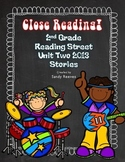 Reading Street  2nd Grade Close Reading 2013 Unit 2 (5 Stories) Bundled!