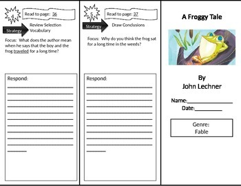 Reading Street 2nd Grade A Froggy Tale Trifold