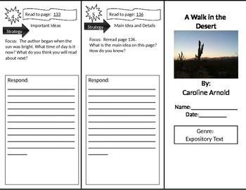 Reading Street 2nd Grade A Walk in the Desert Trifold