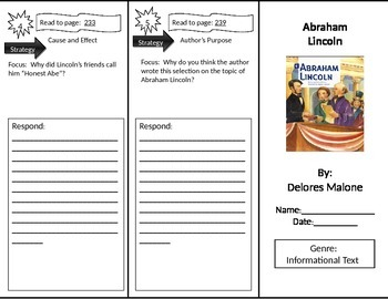 Reading Street 2nd Grade Abraham Lincoln Trifold