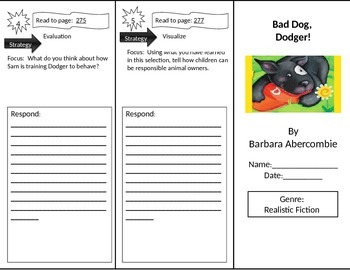 Reading Street 2nd Grade Bad Dog, Dodger Trifold