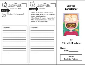 Reading Street 2nd Grade Carl the Complainer Trifold