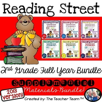Reading Street 2nd Grade Common Core Unit 1-6 Full Year Bundle 2013