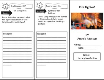 Reading Street 2nd Grade Fire Fighter Trifold