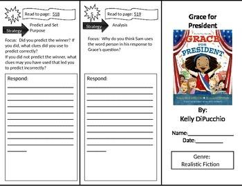 Reading Street 2nd Grade Grace for President Trifold