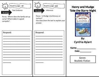 Reading Street 2nd Grade Henry and Mudge Trifold