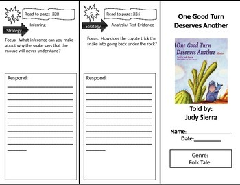 Reading Street 2nd Grade One Good Turn Trifold