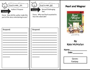 Reading Street 2nd Grade Pearl and Wagner Trifold