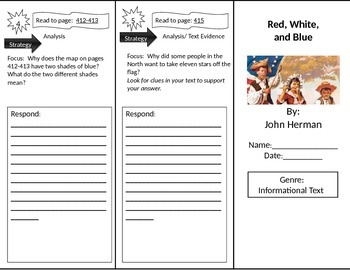Reading Street 2nd Grade Red, White, and Blue Trifold
