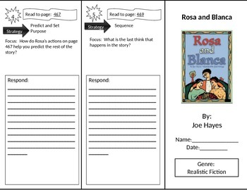 Reading Street 2nd Grade Rosa and Blanca Trifold